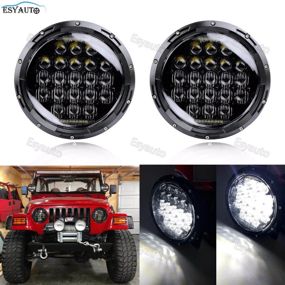 Круглый Автомобильный свет 7 дюймов светодиодные фары 130 Вт 5D объектив дальнего света комплект фар проектор для Jeep Wrangler JK TJ LJ CJ