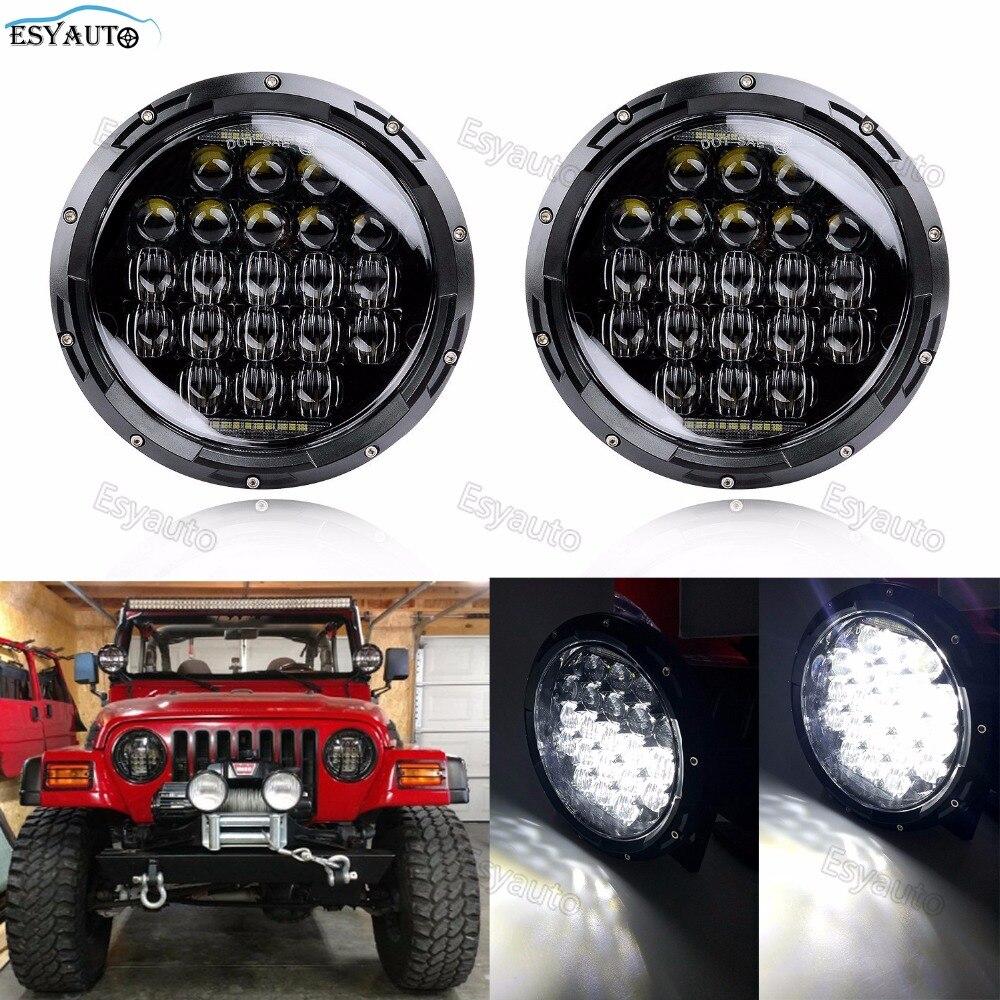 Круглый свет автомобиля 7 дюймов светодио дный фары 130 Вт 5D объектив для вождения свет фар набор комплект проектора для Jeep Wrangler JK TJ LJ CJ