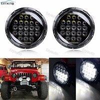 Круглый свет автомобиля 7 дюймов LED Фары для автомобиля 130 Вт 5D объектив дальнего света передние фары комплект проектор для Jeep wrangler JK TJ LJ CJ