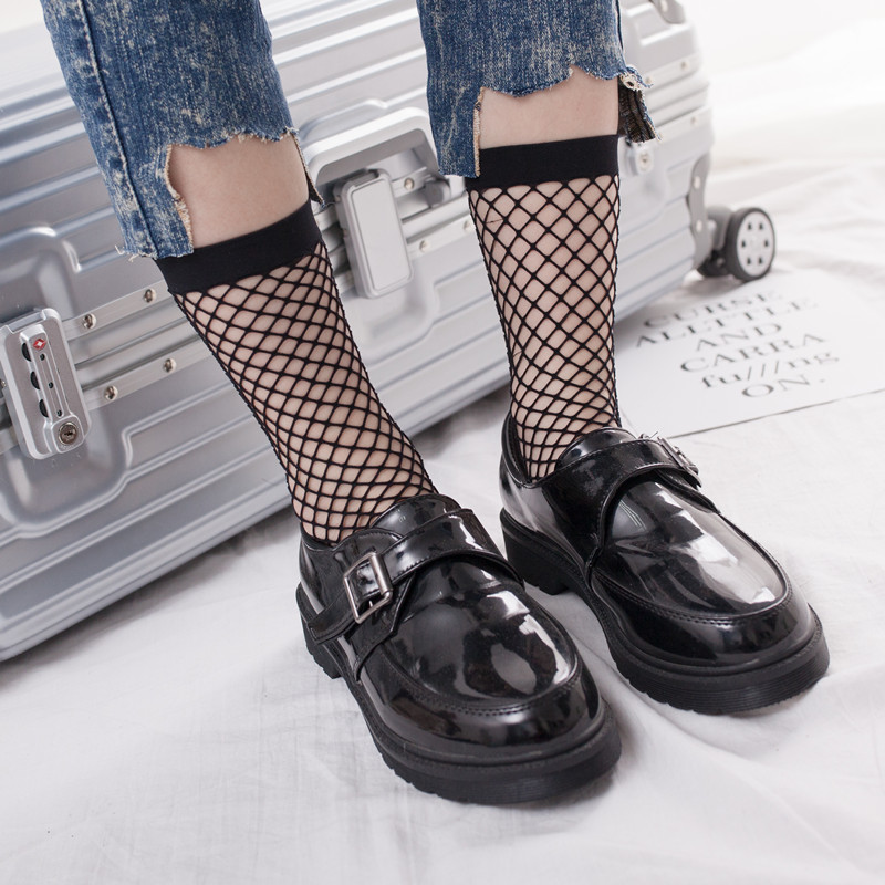 Girl Socks with high knees The sock party party for the fashion trend of the children Female sock hollowed hole socks