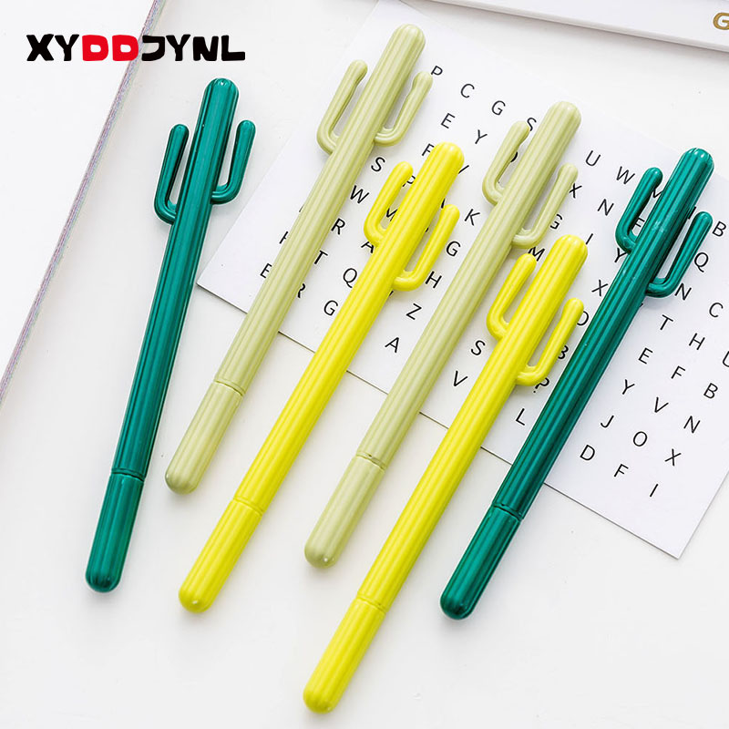 1 Pcs Kawaii Cactus Gel Pen Korean Stationery 0.5mm Kids Writing Plant Gel Pen School Office Supplies Cute Gift цена 2017