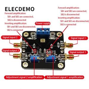 Image 2 - LM358 モジュール演算増幅器モジュールデュアルデュアルチャンネル 700 18k 帯域幅低消費電力 SMA 入力と出力機能のデモボード