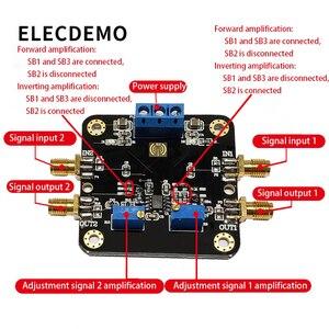 Image 2 - LM358 модуль операционного усилителя модуль двойной канал 700k полоса пропускания низкая мощность SMA вход и выход функция демонстрационная плата