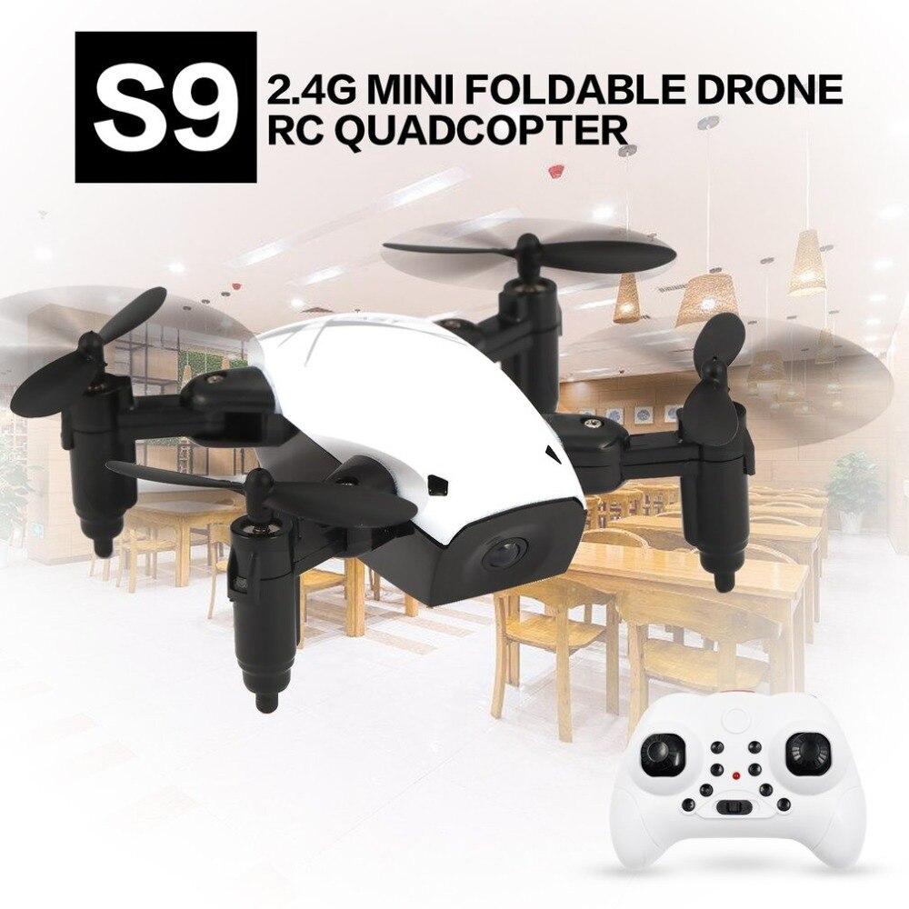 S9 RC Mini plegable Drone 2,4g 4CH 6-Axis Gyro RTF Quadcopter modo sin cabeza una tecla retorno OVNI Mini Drones como regalo de Navidad