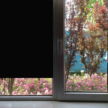 Sunice 0%VLT opaque Black Window Film Sun Control anti-UV glass sticker privacy decorative tint for home office glass summer USE