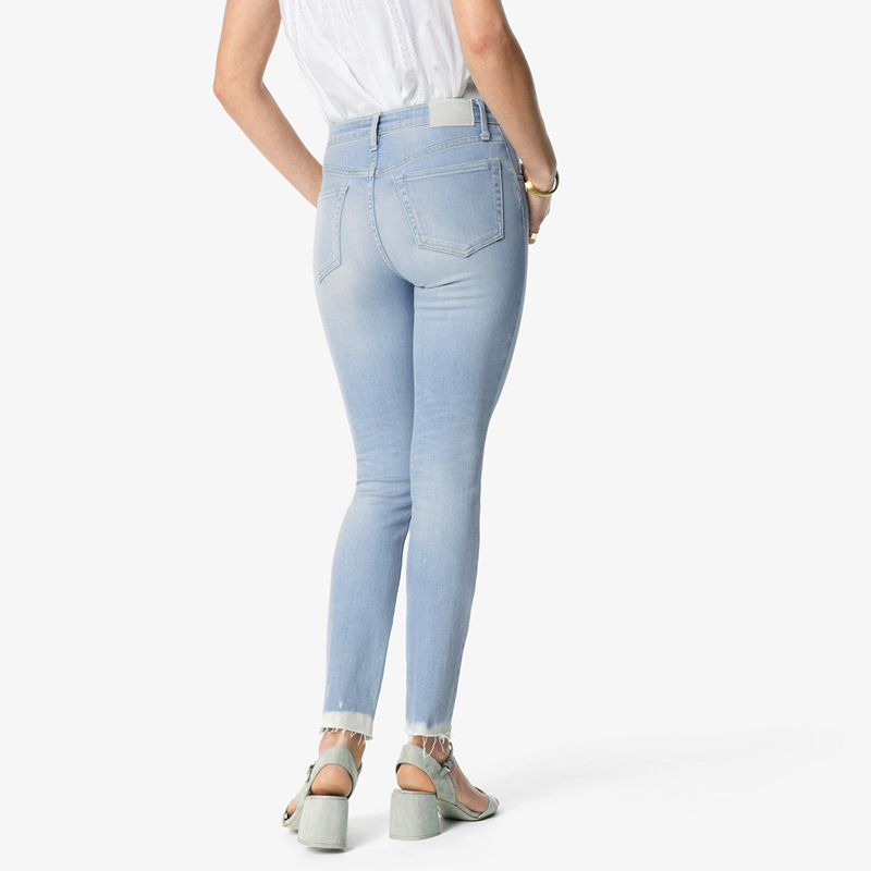 Mayberrystudios women jeans skinny ankle step fray high/mid waist
