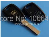 (Black color )Fiat  black 1 button remote car key blank , key shell cover