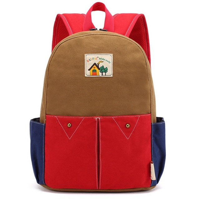 Japan style Child Casual School Bags Teenage Girl Boy Contrast Color Mochila Escolar Kawaii Campus Backpack Red Kindergarten Bag