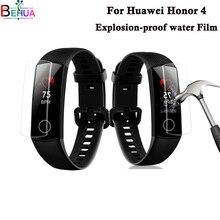 цена на Screen Protector For Huawei Honor Band 4 smart watch screen protection Edge Anti-scratch Soft TPU Full Screen Protector