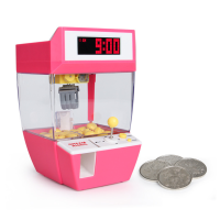 Hot USB Coin Operated Game Grabber Alarm Clock Candy Machine Clip Dolls Desktop Crane Machine Doll Candy Catcher Grabber Machine