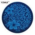 Yzwle Hot Nail Art venta placa de acero inoxidable imagen placas estampación sello DIY plantilla de manicura esmalte de uñas herramientas ( JQ-59 )