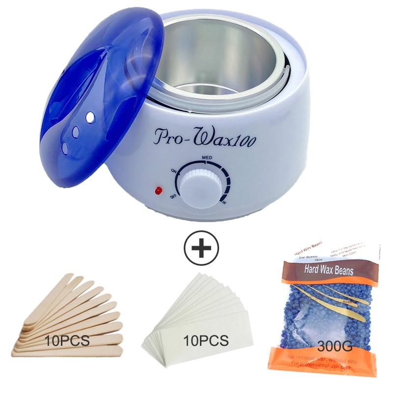 Professional Warmer Wax Heater SPA Hand  Feet  Epilator Body Depilatory Machine With 300G Wax Beans  Bikini Hair Removal