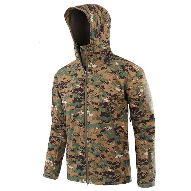 9758d7cc06c2 New Army Camouflage Coat Military Jacket Waterproof Windbreaker Raincoat  Hunt tactical Clothes Men Outerwear Jackets And Coats