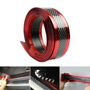 2,5 м * 5 см Универсальная автомобильная защита, молдинги, Накладка для порога, защита педали, полоски, бампер, наклейка из углеродного волокна