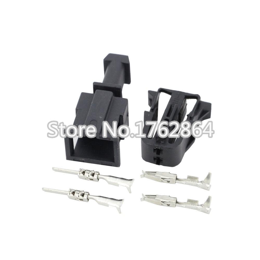 female male auto 2 pin abs sensor wire harness connector. Black Bedroom Furniture Sets. Home Design Ideas