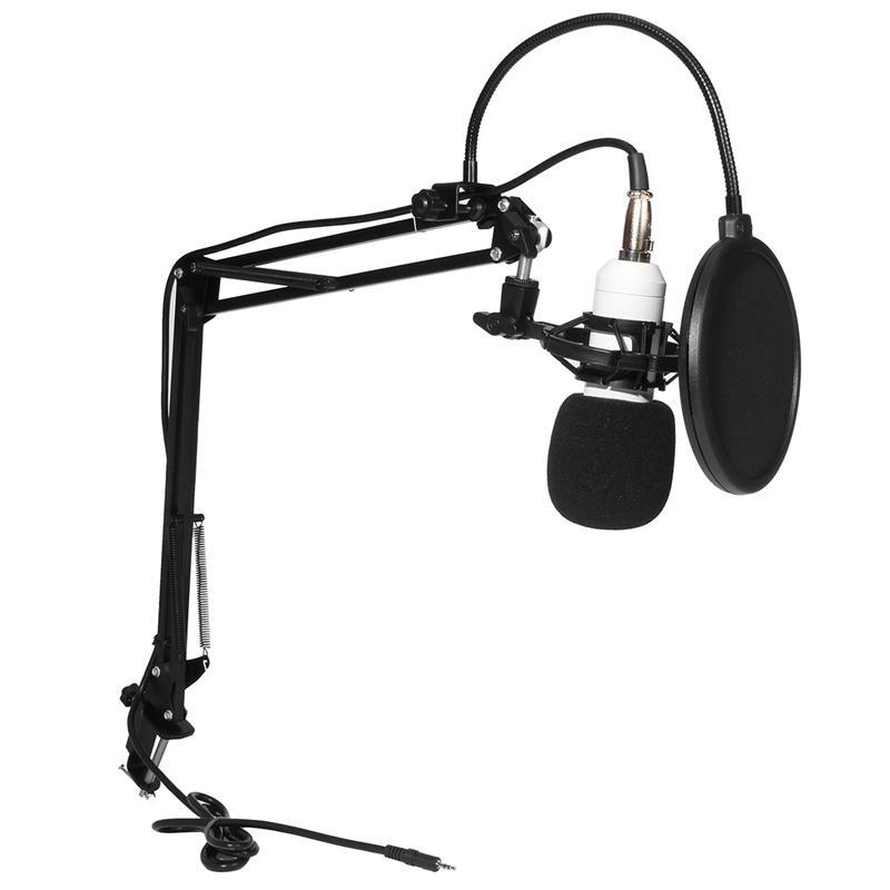 Leory Bm 800 Karaoke Condenser Microphone Capacitor 48v Phantom
