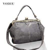 2016 New Fashion Women Realer Brand Vintage Bags Retro PU Leather Tote Bag Messenger Bags Small