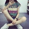 Hot Korean T Shirt Women 2016 Summer Style Short Sleeve Tshirt Women Tops Plus Size Print t-shirts Graphic Tee Shirt Femme TS12