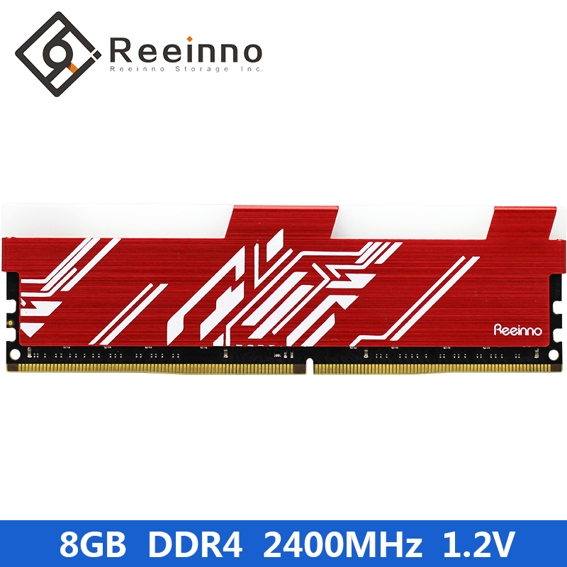 Reeinno Ram 8GB DDR4 2400MHz Desktop Memory 1.2V 288pin for Computer Games Rams Lifetime Warranty in stock