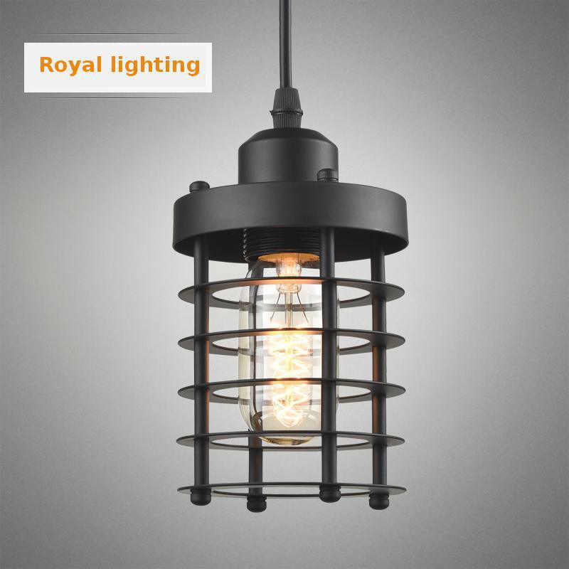 Edison retro black metal kitchen light Luminaire Mediterranean Sea E27 Iron pendant lamp aisle Dining Room Bar Light Pendientes