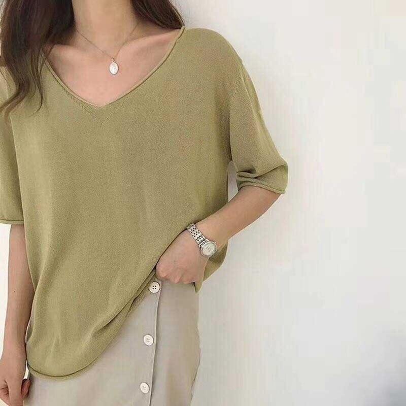 2019-summer-thin-knit-oversized-t-shirt-for-women-v-neck-big-top-girls-casual-t.jpg_640x640 (1)