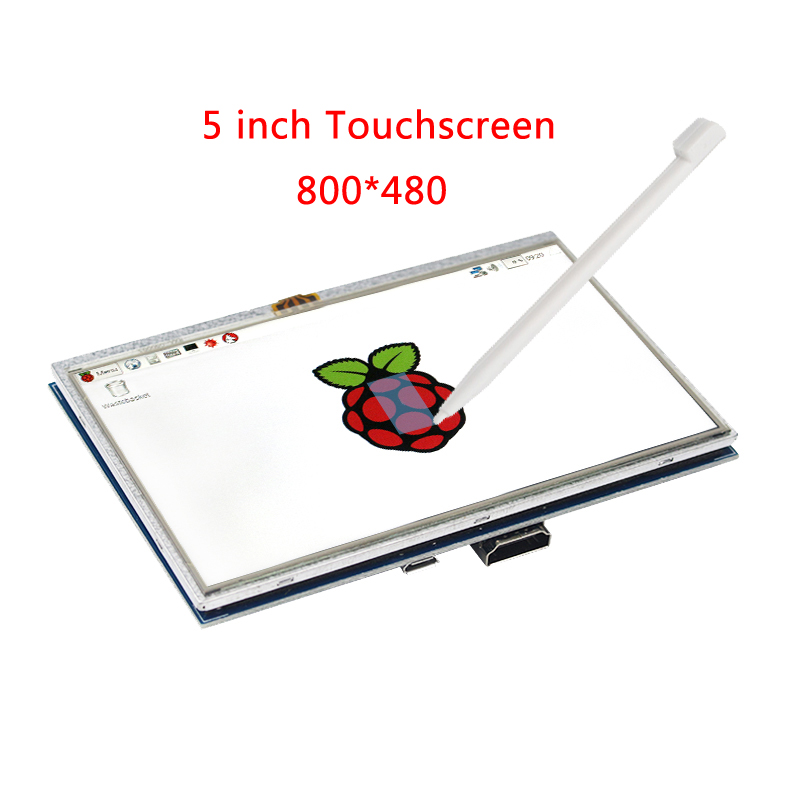5 Inch Raspberry Pi 3 Model B+ LCD Touch Screen 800x480 TFT LCD Display Panel with HDMI Connector for Raspberry Pi 3 modules raspberry pi lcd display 5 inch hdmi lcd b 800x480 touch screen supports all raspberry pi 3 b banana pi pro with cas