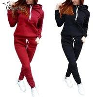 Autumn Winter Women S Sports Suits Running Set Women Sportswear Tracksuit Hoodie Hooded Sweatshirt Long Pants