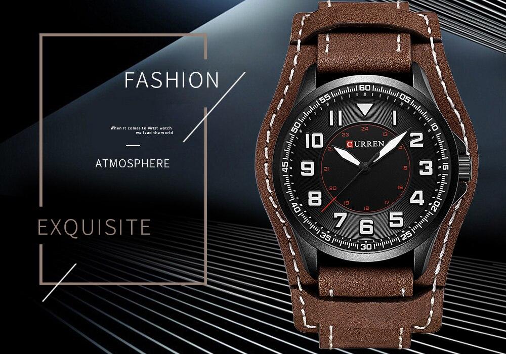 7bb1e9ea39db Relojes de cuarzo para hombre marca 2018 CURREN reloj de pulsera hombres de lujo  analógicos digitales de cuero relojes deportivos reloj masculino