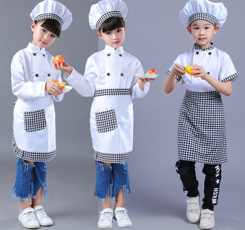 Girls Boy Halloween Cosplay Costume Chef Uniform Kids Kindergarten Games Cooking Clothing Child Kitchen Work Wear Clothes 89