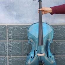 Yinfente* 5 струнная электрическая акустическая виолончель 4/4 клен+ ель мощный звук синий 4 струны