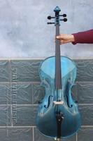 yinfente* 5 string Electric Acoustic Cello 4/4 Maple+Spruce Powerful Sound BLUE 4 STRING