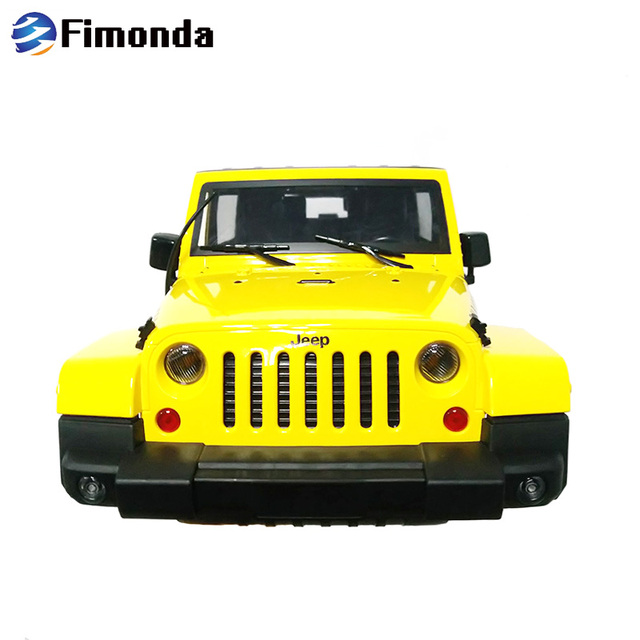 1:10 RC Car Body Shell Jeep Wrangler Rubicon For 1/10 RC Crawler Car Axial SCX10 270mm Wheelbase Engine Cover Intake Grille part