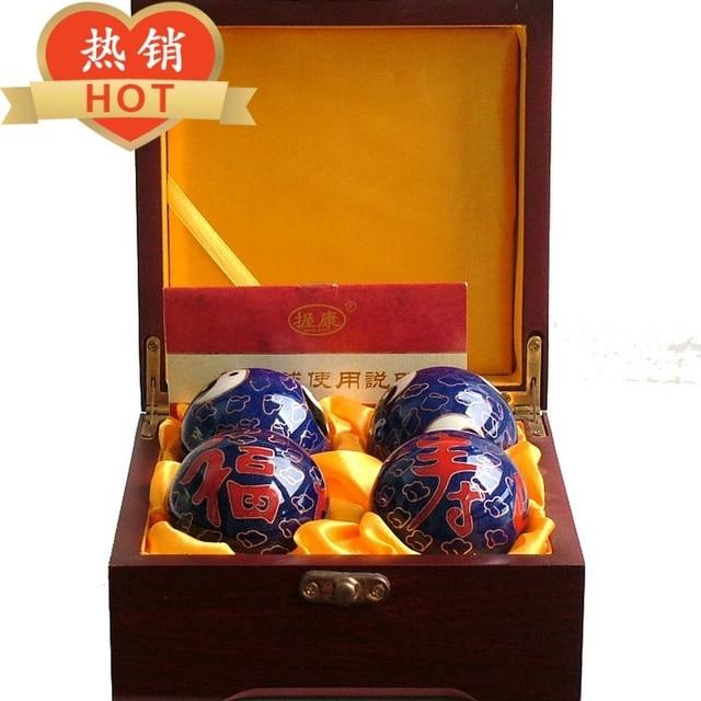 The Elderly Birthday Gift Ideas Grip Longevity Kang Tai Chi Fitness Handball Health Ball Cloisonne