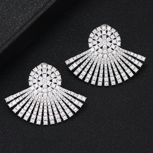 Image 4 - GODKI 40MM Famous Luxury Popular Full Ealobe Stud Earring For Women Accessories Full Cubic Zircon Earrings pendientes mujer moda