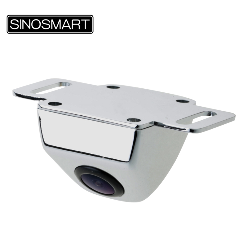 SINOSMART Backup Camera Firm-Installation Parking-Reverse Metal Chrome Stainless HD In-Stock