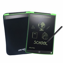"NEWYES 12 ""الأخضر LCD الكتابة مفكرة الإلكترونية لوح رسم الرسومات e ورقة eWriter هدايا مذكرة Snapchat نمط مجلس مع حقيبة"