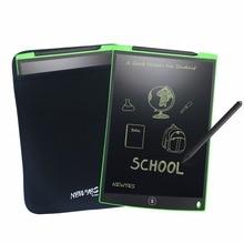 "Newyes 12 ""녹색 lcd 쓰기 노트 패드 전자 드로잉 태블릿 그래픽 전자 종이 ewriter 선물 메모 snapchat 스타일 보드 가방"