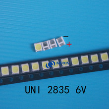4000 шт. UNI светодиодный 3528 2835 1210 световые бусины высокой мощности 1 Вт 6 в холодный белый для светодиодный ЖК-Телевизор подсветка Applicatio