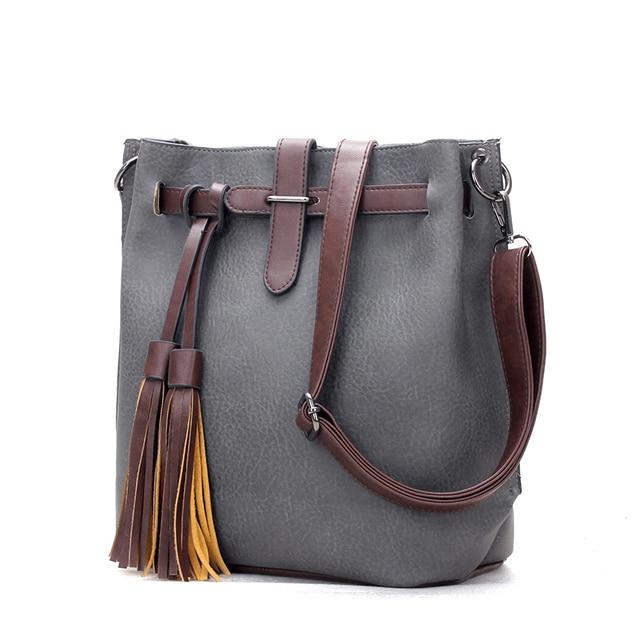 Famous Designer Bags 2015 Fashion Crossbody Bags For Women Leather Handbags Tassel Shoulder Messenger Bags Bolso Mujer Sac Femme