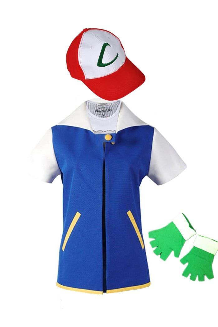 CaGiPlay Visoka kvaliteta djeca Pokemon pepeo kečum trener Cosplay - Karnevalske kostime - Foto 2