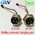 Оригинальный Универсальный зарядный порт GotWay Электрический Одноколесный велосипед 67 2 V 3 pin 84V 4 pin зарядный порт Одноколесный spera запчасти