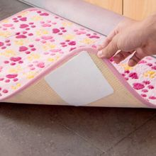 Household Tapes 4Pcs/lot Carpet Strongly Anti-slip Tape Double-sided Self Adhesive Sticker for Fixing Floor Pad Bath Mats