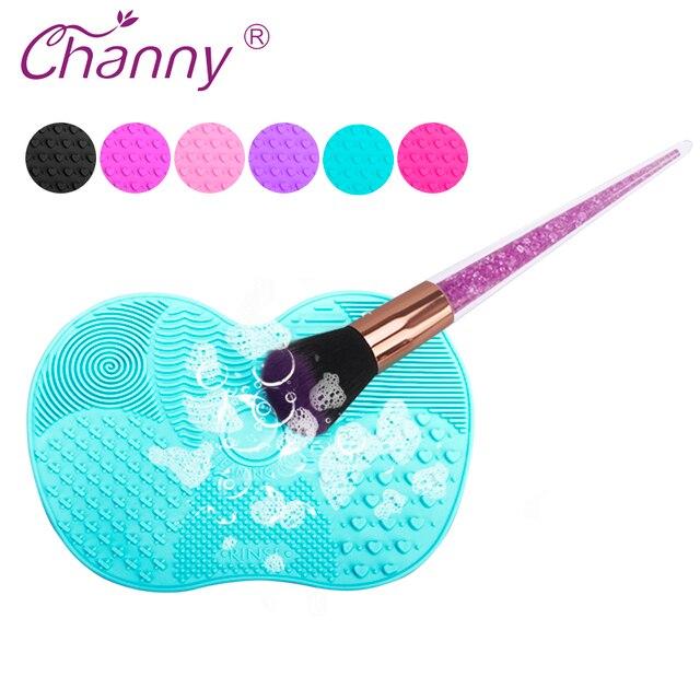 De silicona cepillo limpiador mat cosméticos cepillo de lavado herramienta de base de maquillaje cepillos de limpieza scrubbe Junta