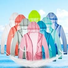 Men Lightweight Jacket Hooded UV Protect Fishing Shirts Quick Dry Windproof Skin Coat Sun Protection Sports Anti-Mosquito Jacket недорого