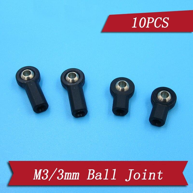 10 шт. M3/3 мм, сервопривод, шар сцепления, шарнир, поворотная Пряжка, держатель рулевой головки, соединительные части для RC багги, автомобиля/ло...