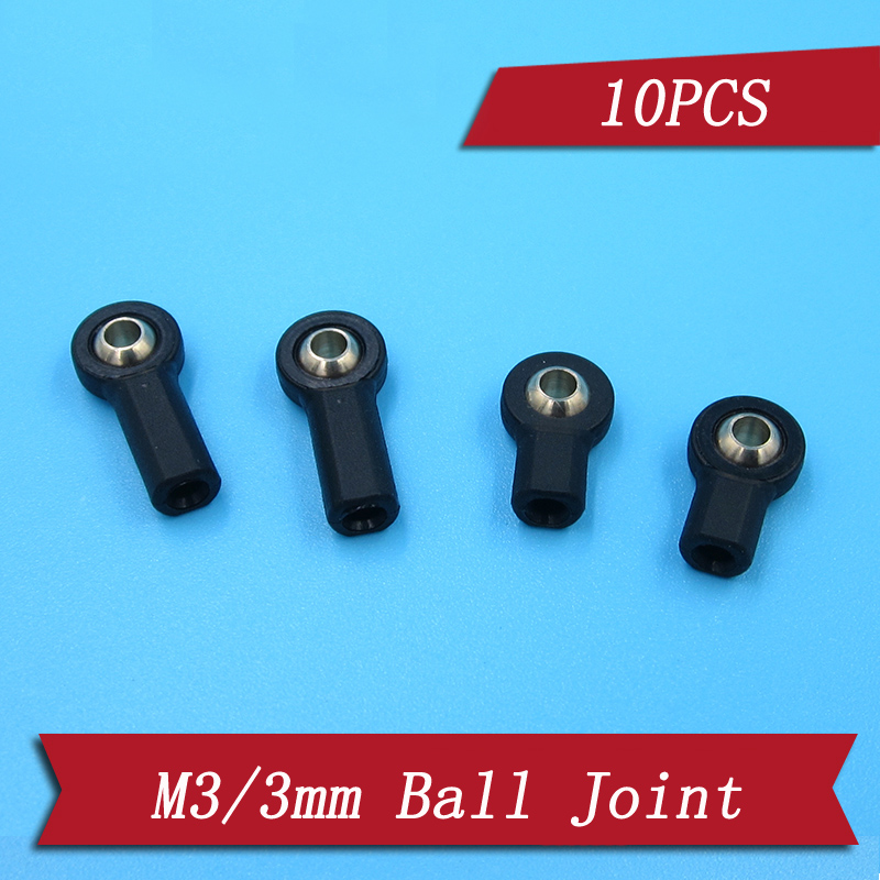 10Pcs M3 Link Rod End Ball Joint Steering Link for 1//10 RC Car Crawler Buggy