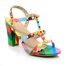 d3643c42 TXCNMB 2019 mieszane kolory kobiety sandały letnie buty na wysokim obcasie  panie party buty ślubne kobieta