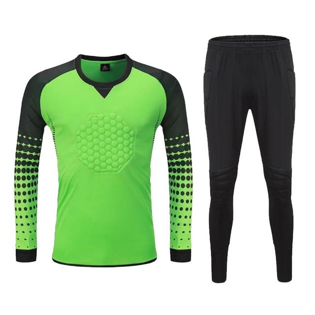 12a8d2ae7 Soccer Goalkeeper Jerseys Sets Men Football Survetement Tracksuit Goal  Keeper Uniforms Goalie Sports Training Suits Diy Custom