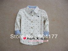 Free shipping boys shirts new 2013 100% cotton childrens