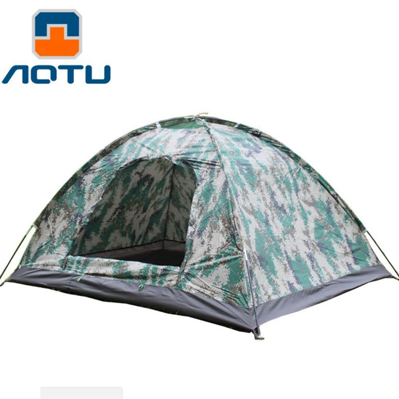 AOTU  Outdoor Camping Family Traveling Tent with Hand Bag Tents Sun shading  Camouflage printing Portable Tents Room outdoor double layer 10 14 persons camping holiday arbor tent sun canopy canopy tent